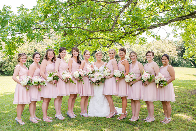 blush bridesmaids | Eliza Morrill Photography | Glamour & Grace