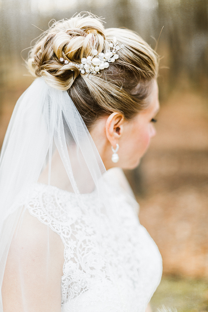 bun and veil | Molly Jo Collection | Glamour & Grace
