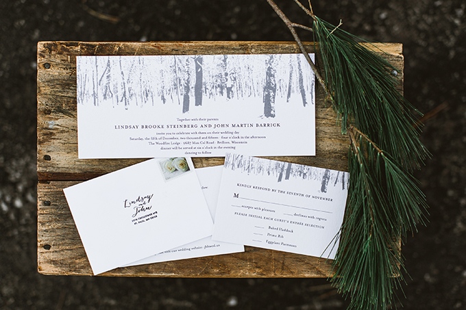 winter invitation | Molly Jo Collection | Glamour & Grace