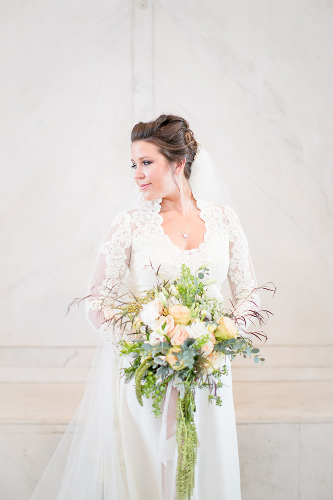 bride in mother's wedding dress   Jill Doty Photography   Glamour & Grace