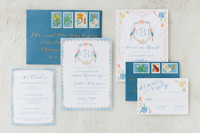 heirloom china inspired invitation | Roots of Life Photography | Glamour & Grace