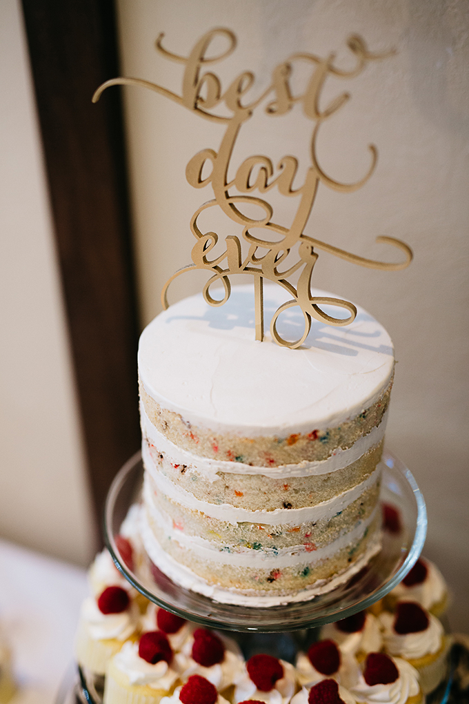 funfetti wedding cake | Dan Stewart Photography | Glamour & Grace