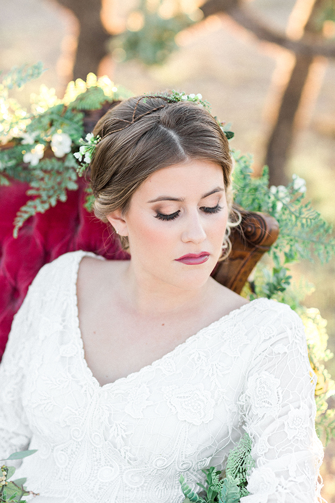romantic desert bridal session | Marie Cameron Photography | Glamour & Grace