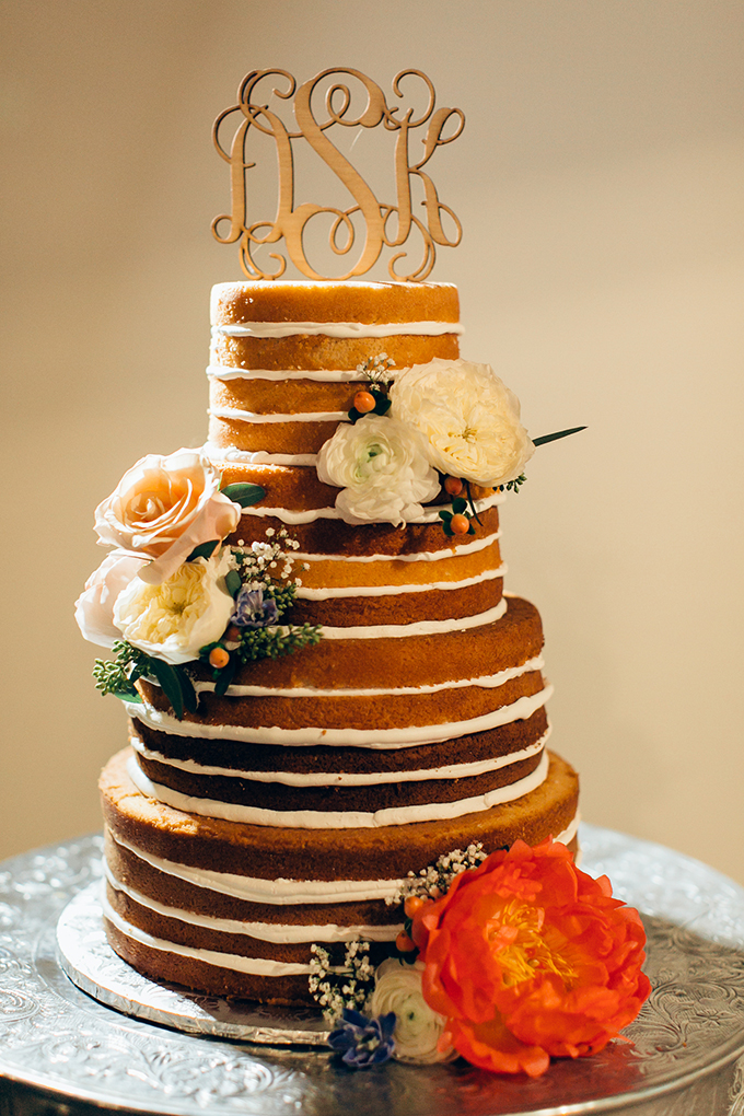 naked wedding cake | Jessica Connery Photography | Glamour & Grace