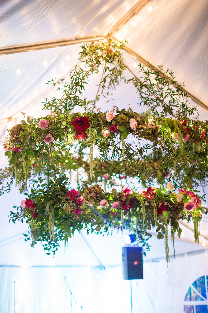 floral chandelier | Tami & Ryan Photography | Glamour & Grace