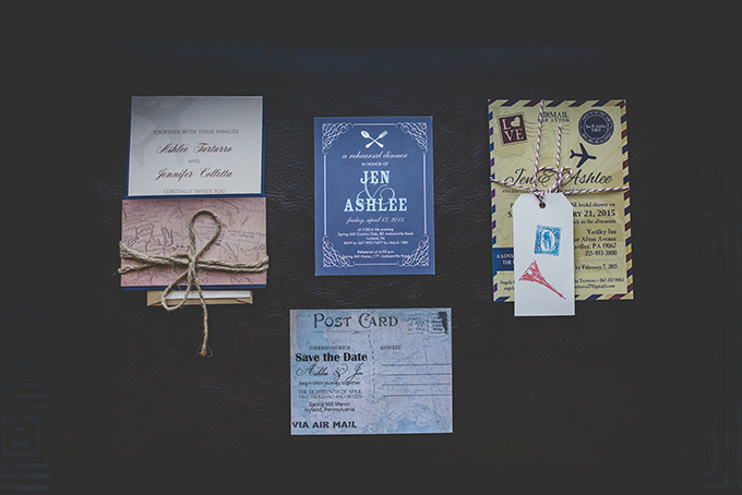 same sex vintage travel themed wedding | BG Productions | Glamour & Grace