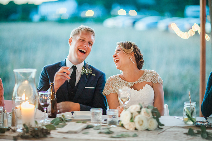 casual Maine seaside wedding | Sarah Morrill Photography | Glamour & Grace