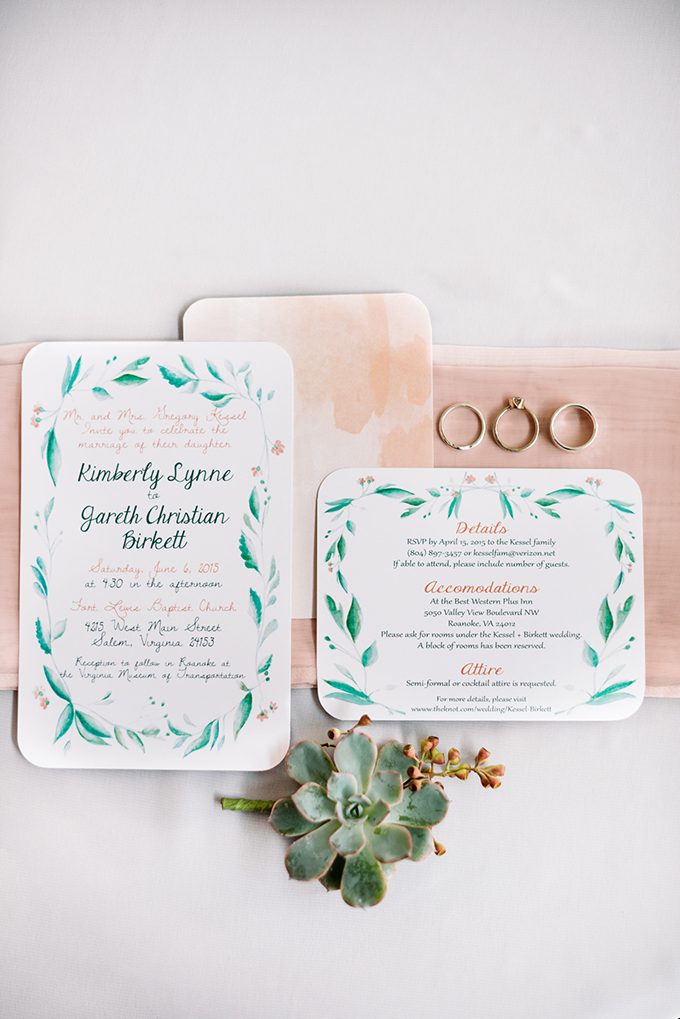 handpainted invitation | Karyn Johnson Photography | Glamour & Grace
