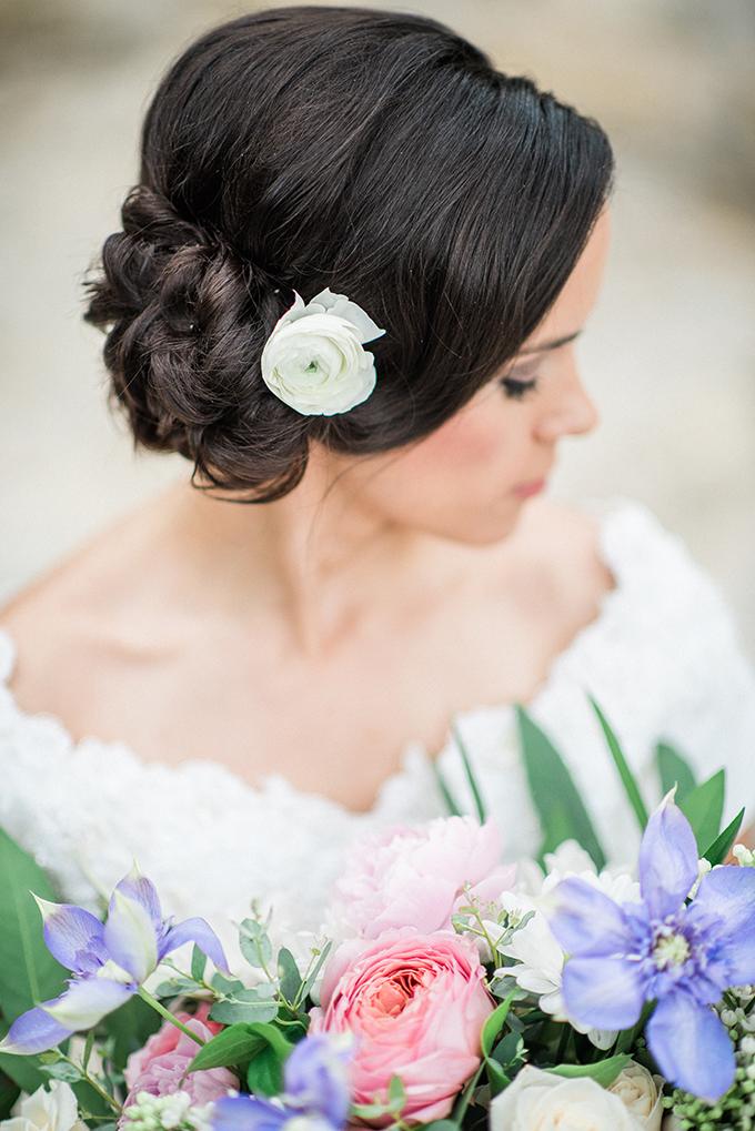 side bun updo | Joslyn Holtfort | Glamour & Grace