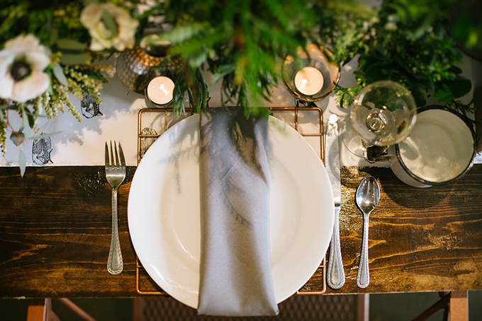 organic industrial wedding inspiration | Christiansen Photography | Glamour & Grace