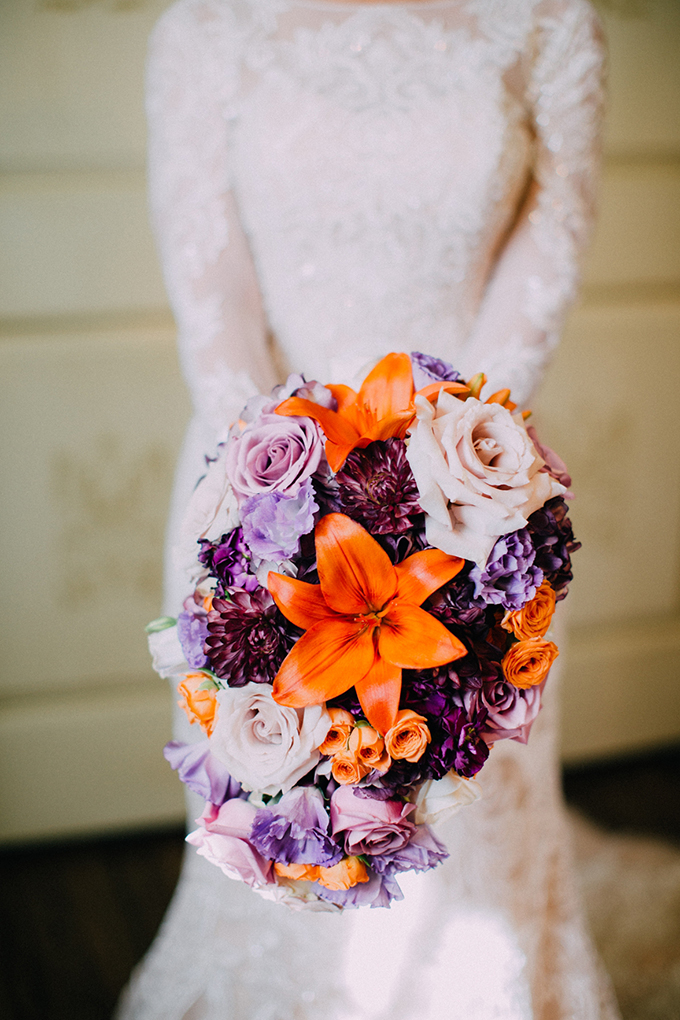 orange and purple bouquet | Endless Exposures Photography | Glamour & Grace