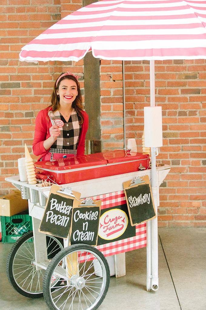 ice cream cart | JoPhoto | Glamour & Grace