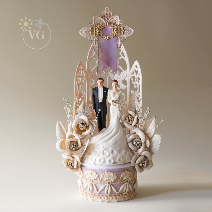 vintage cake toppers   Glamour & Grace