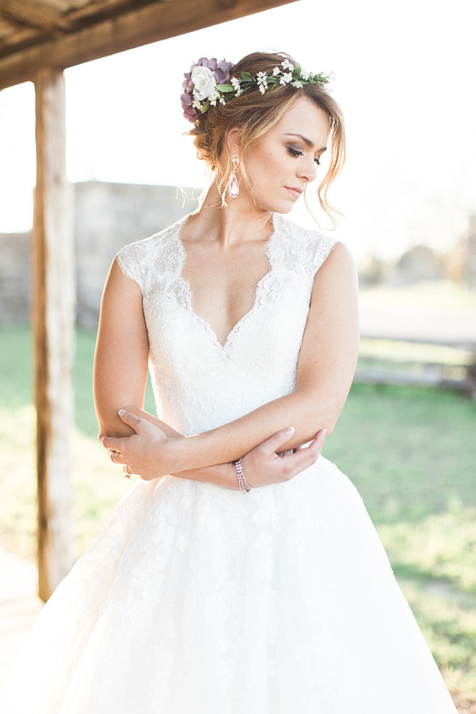garden bridal session | Kristina Ross Photography | Glamour & Grace