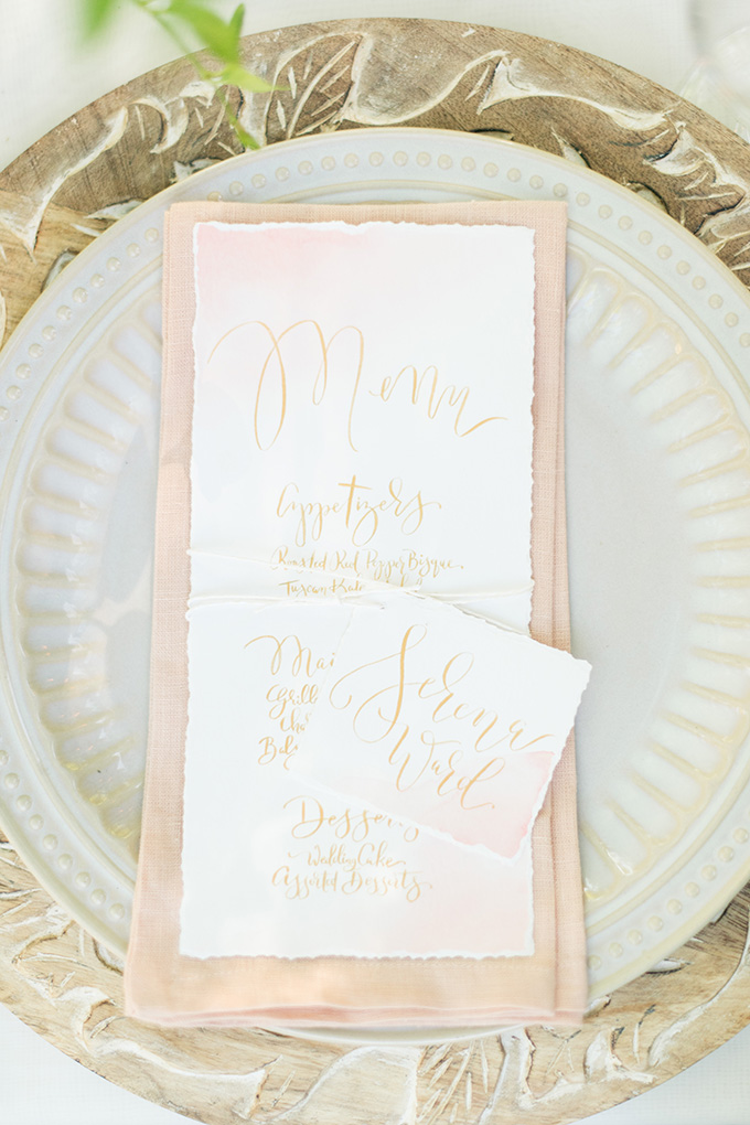 calligraphy menu   Lori Lynn Photography   Glamour & Grace
