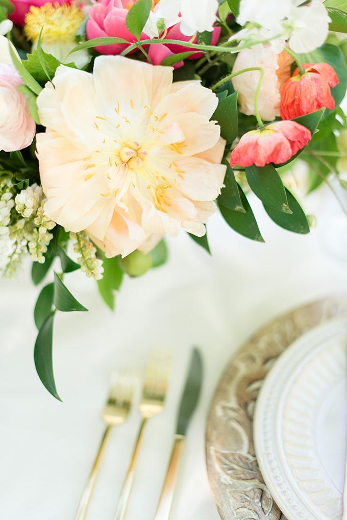 romantic peony wedding inspiration | Lori Lynn Photography | Glamour & Grace