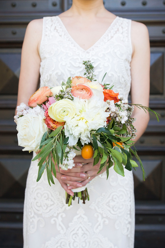 citrus bouquet | Peterson Design & Photography | Glamour & Grace