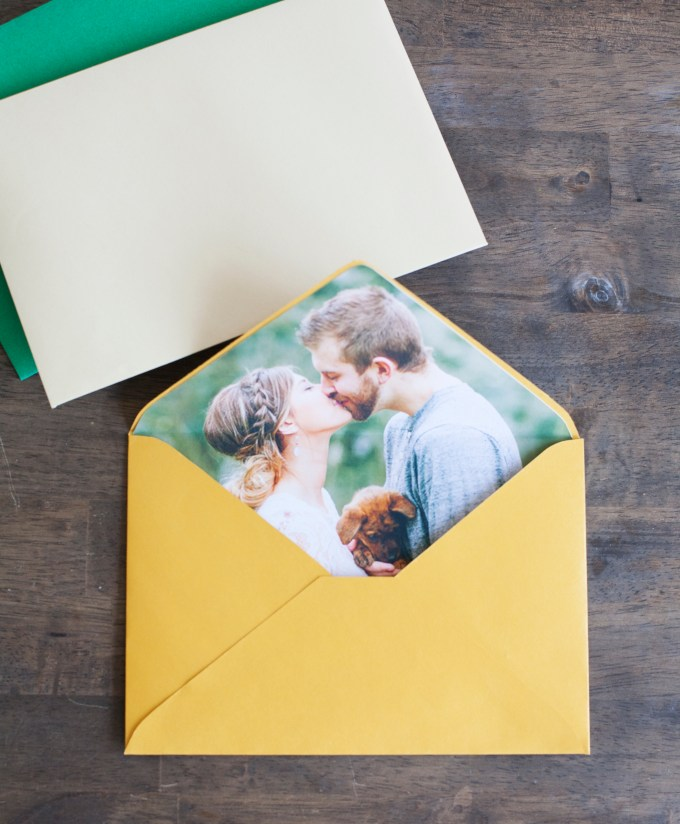 photo envelope liner DIY