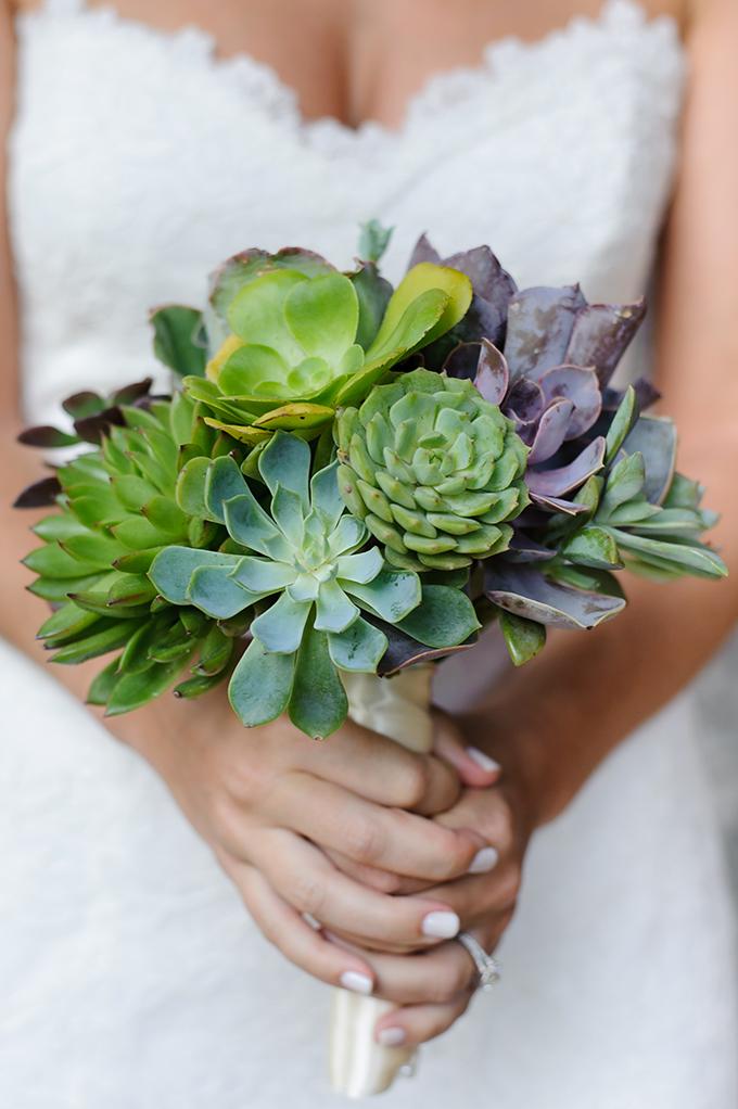 succulent bouquet | Sarah & Ben | Glamour & Grace