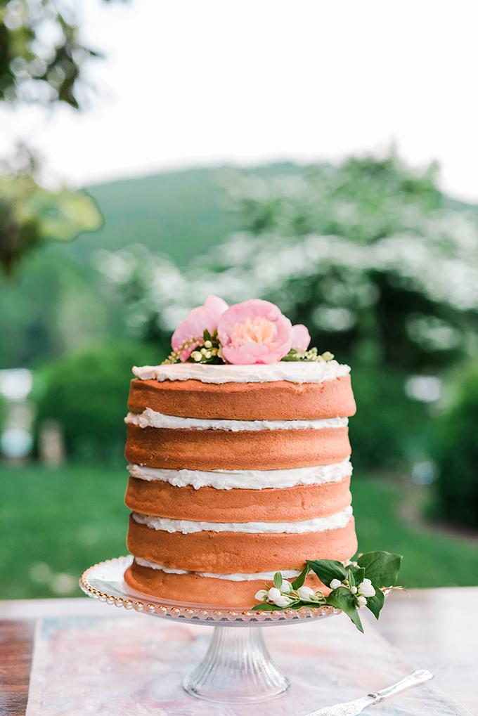 naked cake | Kathryn Ivy Photography | Glamour & Grace