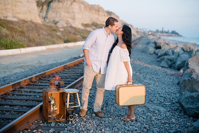 playful vintage engagement session | Walking Eagle Photography | Glamour & Grace