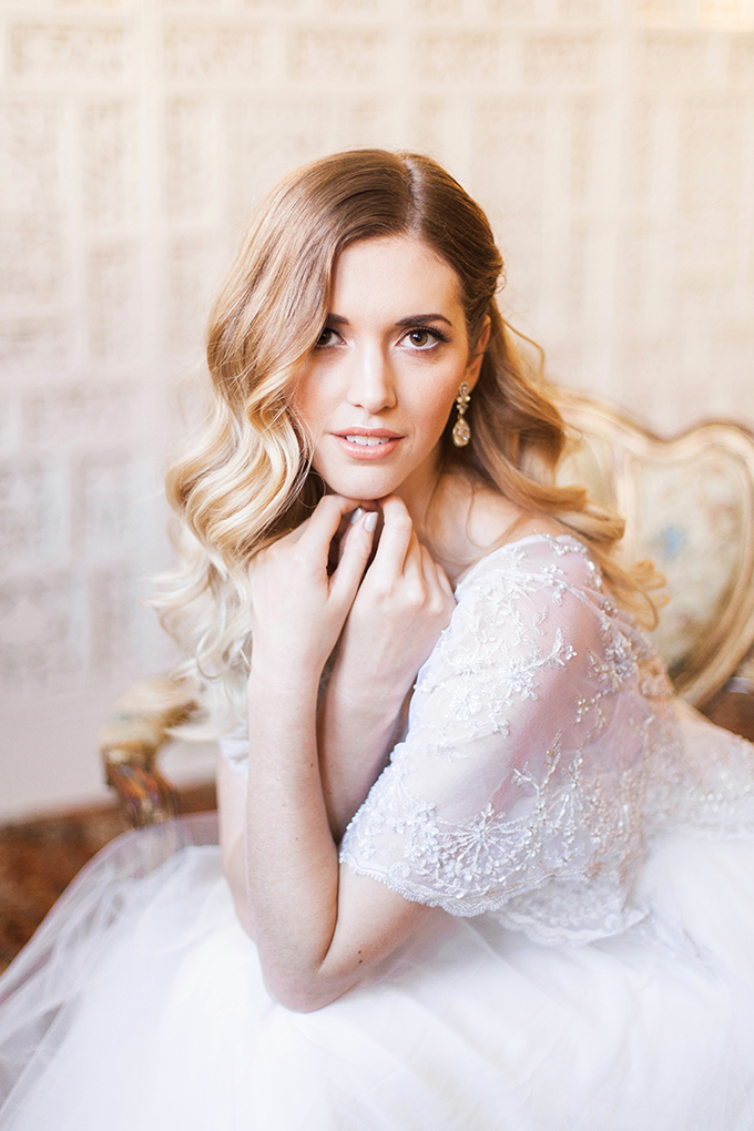 timeless and romantic bridal portraits | Stefanie Marie Photo | Glamour & Grace