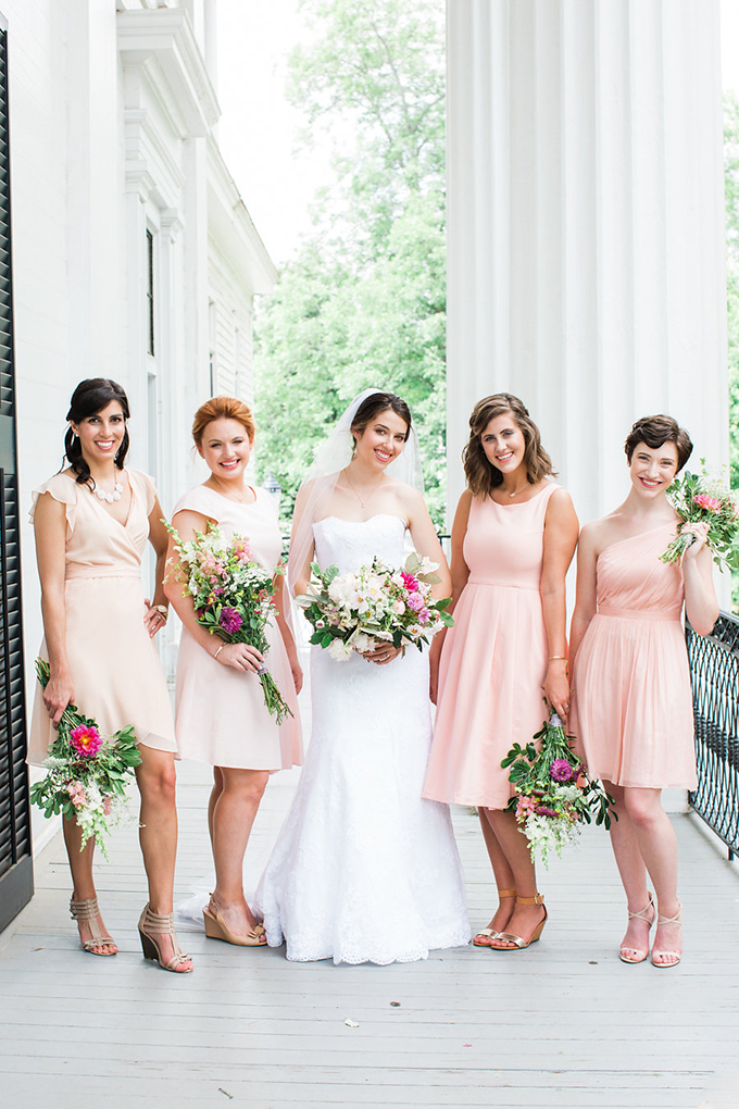 peach bridesmaid dresses | Casto Photography & Cinema | Glamour & Grace