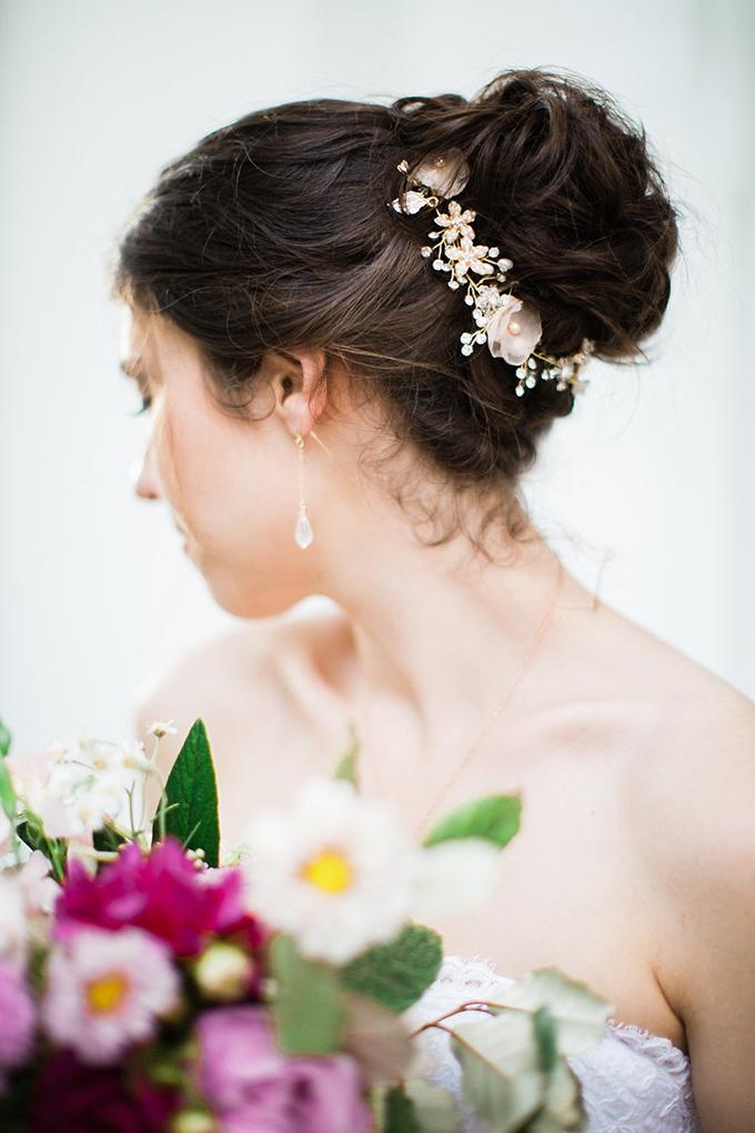 wedding updo | Casto Photography & Cinema | Glamour & Grace