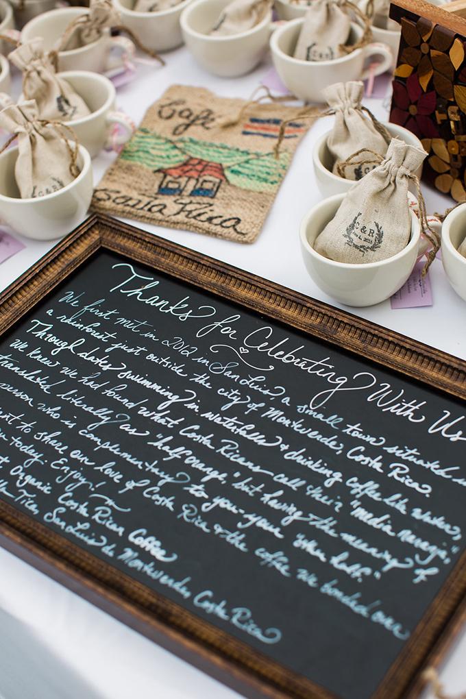 coffe wedding favors | Casto Photography & Cinema | Glamour & Grace