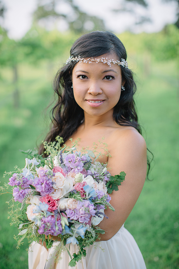 soft pastel bouquet | Echard Wheeler Photography on Glamour & Grace
