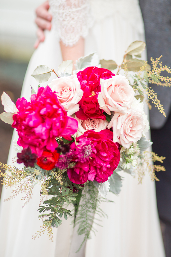 magenta peony bouquet | Amber Hatley Photography on Glamour & Grace