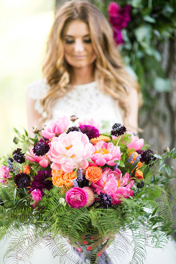 peony bouquet | Crystal's Photography | Glamour & Grace