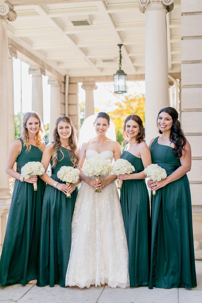 emerald bridesmaids | Lovisa Photo | Glamour & Grace