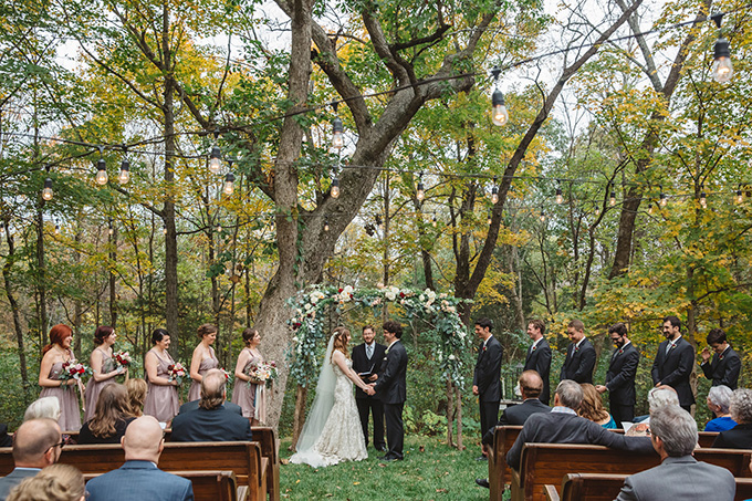 vintage fall barn wedding | Parker Young | Glamour & Grace-08