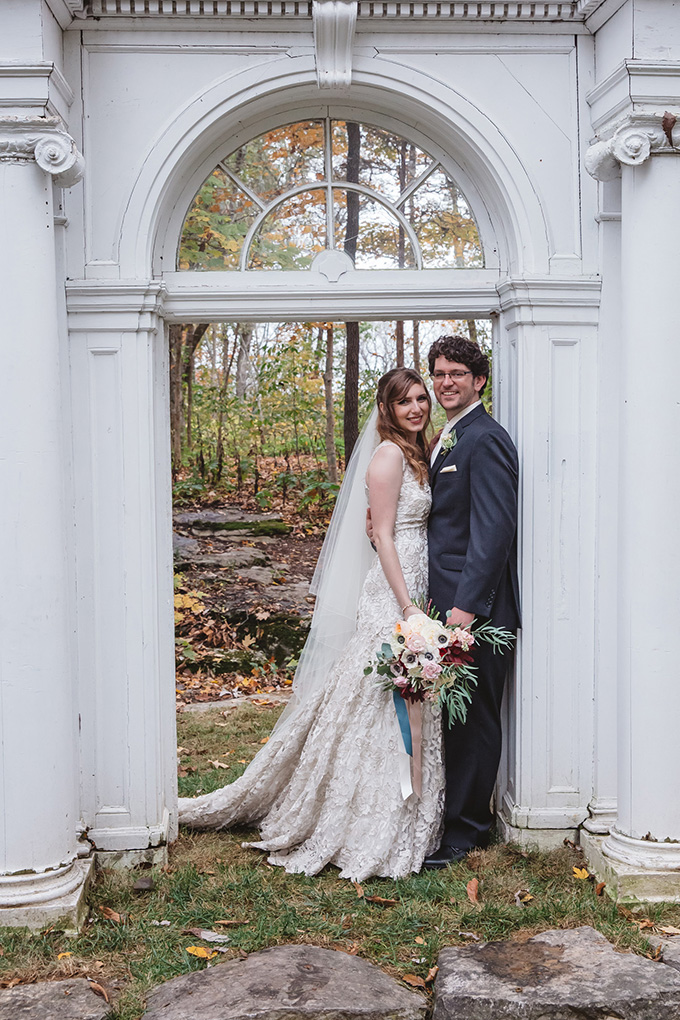 vintage fall barn wedding | Parker Young | Glamour & Grace-13
