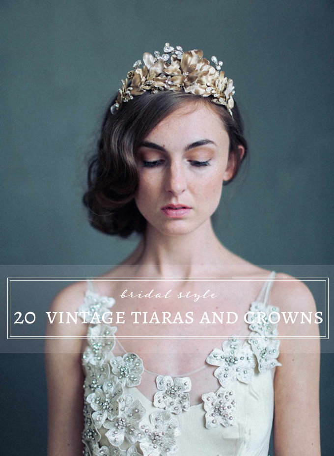 20 vintage inspired wedding tiaras and crowns
