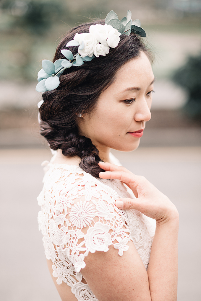garden bridal portraits | Tetiana Photography | Glamour & Grace