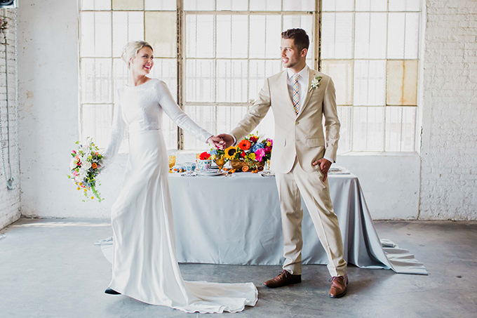 vibrant loft wedding inspiration | Simply Adri Photography | Glamour & Grace