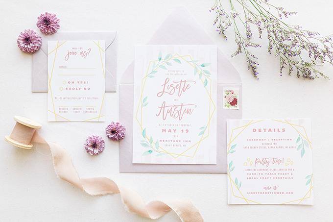 romantic blush and lavender wedding   Laurenda Marie Photography   Glamour & Grace