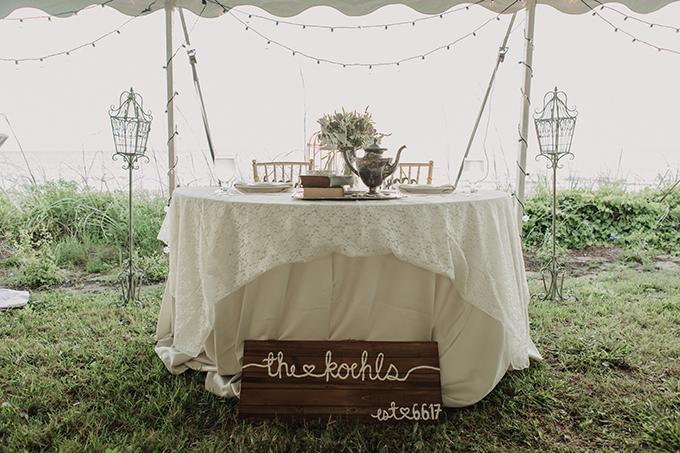 vintage beach wedding | Lisa Riley Photography | Glamour & Grace