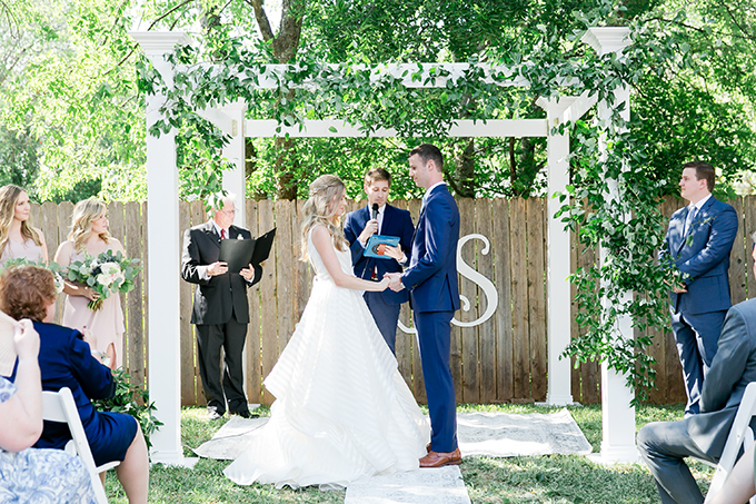intimate backyard wedding | ML photo and film | Glamour & Grace