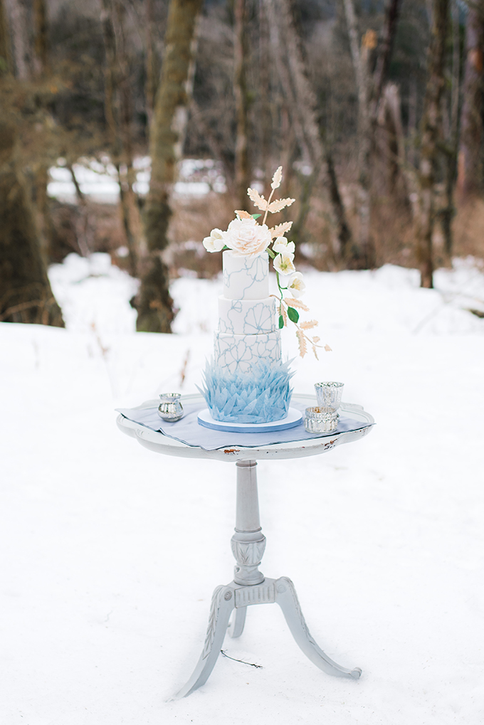 icy blue winter wedding ideas | Simply by Tamara Nicole | Glamour & Grace