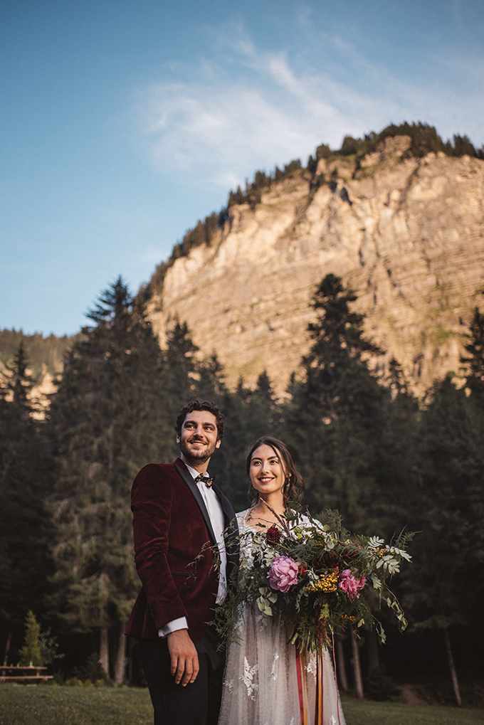 boho French Alps elopement | Katja & Simon Photography | Glamour & Grace