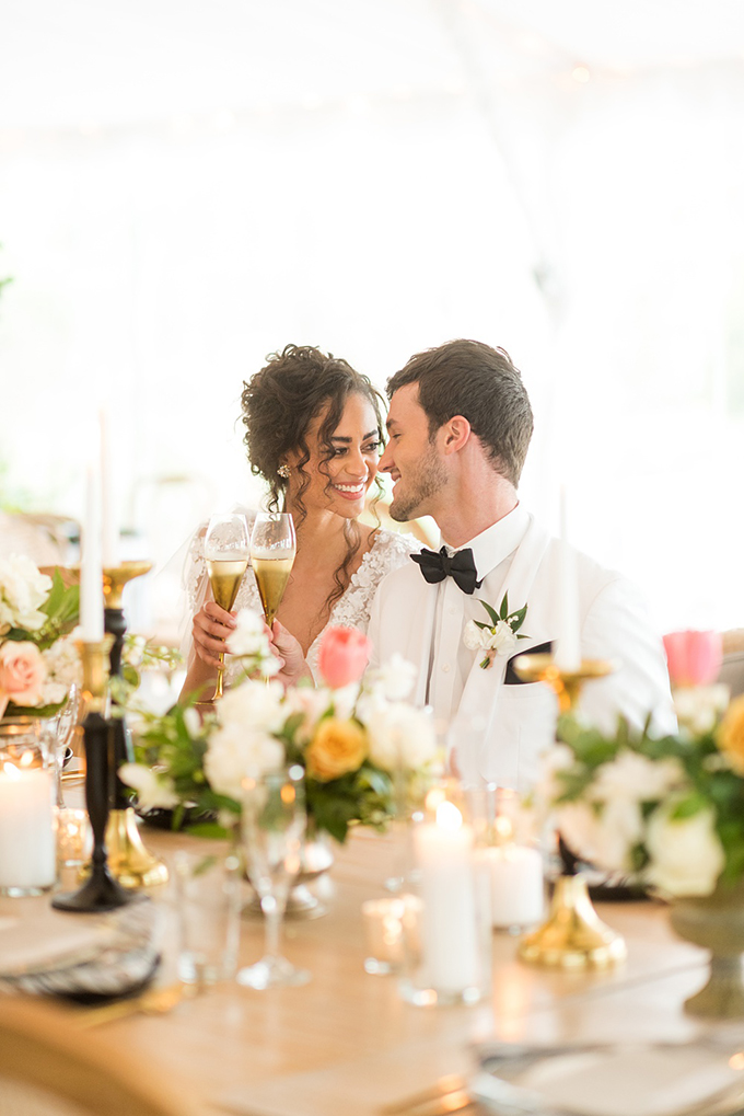 romantic spring peach wedding | Mikkel Paige Photography | Glamour & Grace