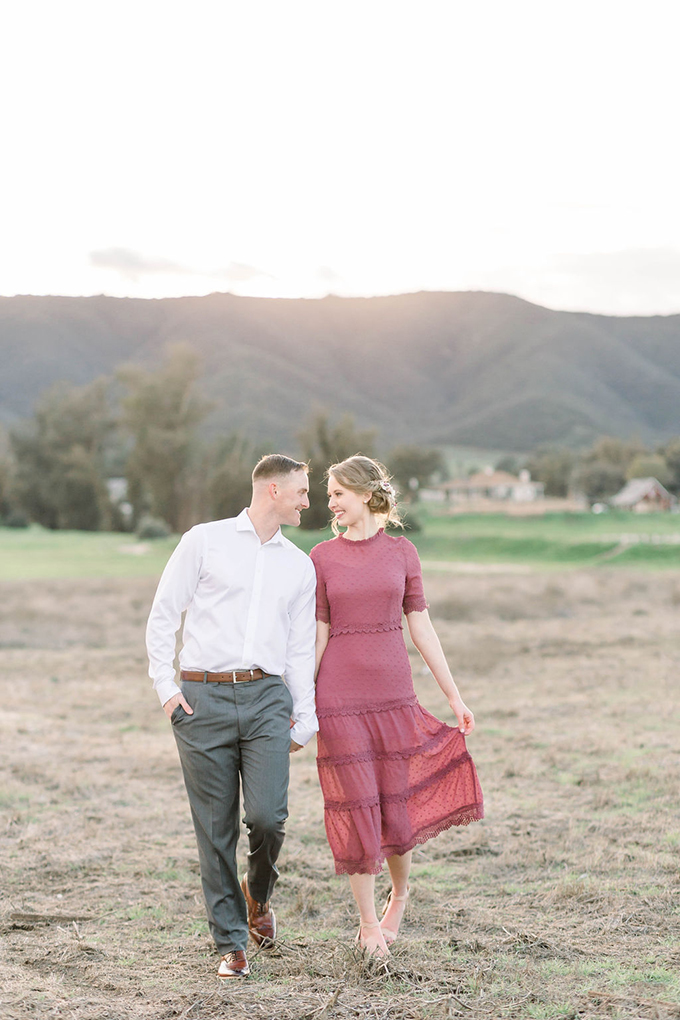 romantic California engagement session | Janita Mestre Photography | Glamour & Grace