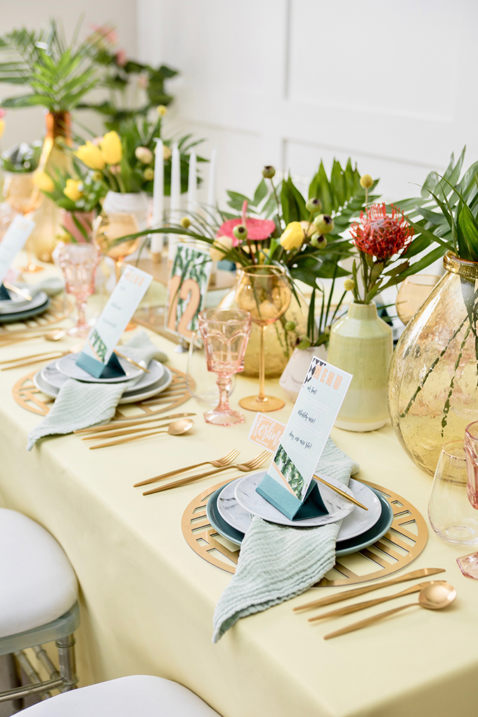 tropical retro wedding ideas | Breanna White | Glamour & Grace