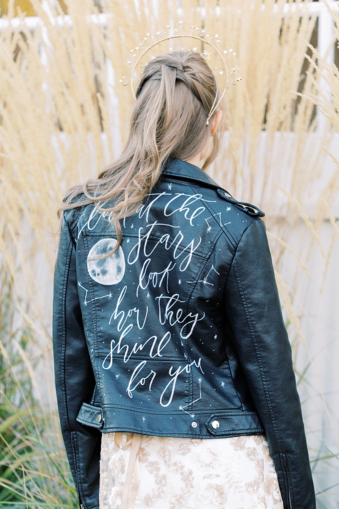 wedding leather jacket | Moose Studio | Glamour & Grace