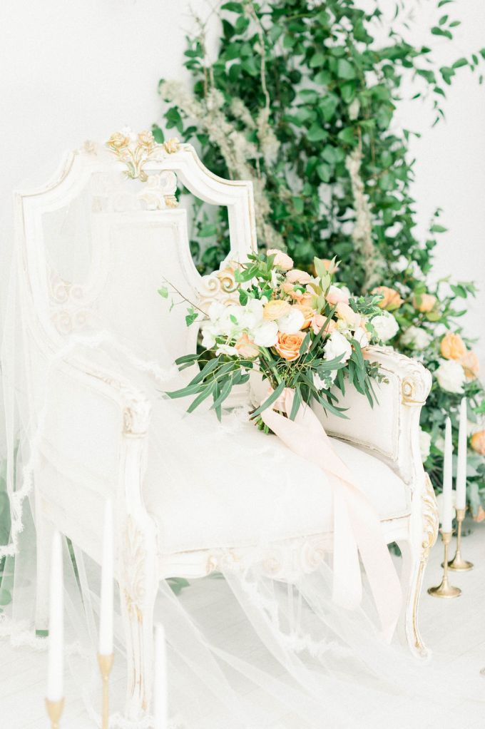 romantic greenery filled bridal portraits | Bertha Torres Photography | Glamour & Grace