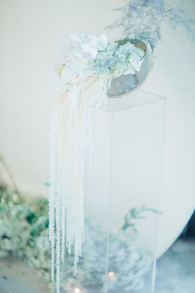 romantic glam ice blue wedding ideas | Glass Darkly Photos | Glamour & Grace