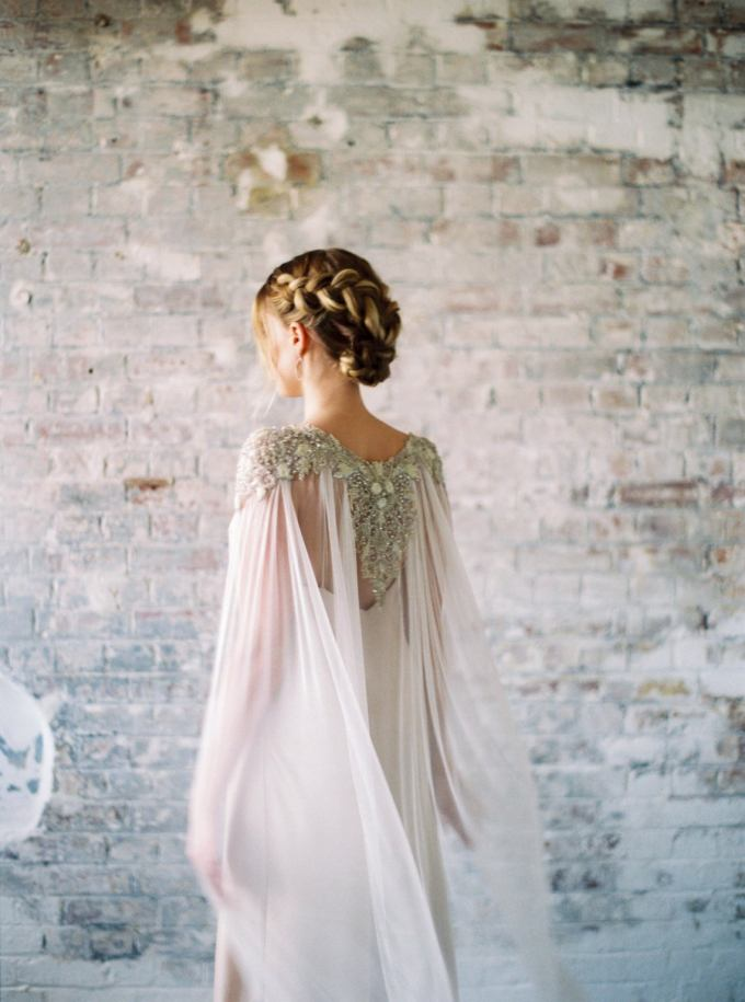 Luxury Beaded Wedding Cape